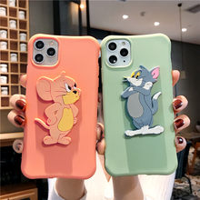 3D Leuke Tom Jerry Case Voor Oppo A3 A5 A7X A9 A9X F9 F11 A11X A5 A9 2020 Stand Siliconen tpu Cover Voor Oppo Reno 2 Z 2F K3 Realmex(China)