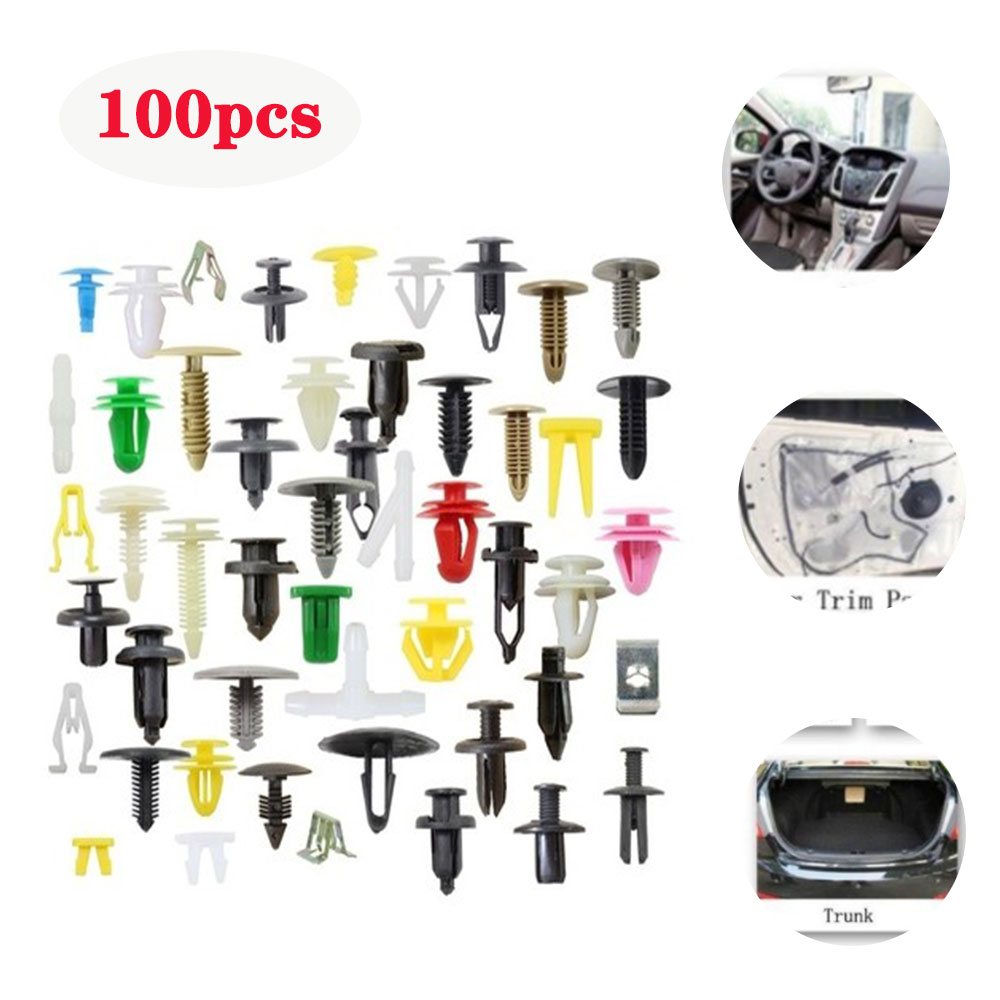100pcs/lot Universal Interior | Decoration Car Plastic Wish Surface Door Fender For Bumper Clips