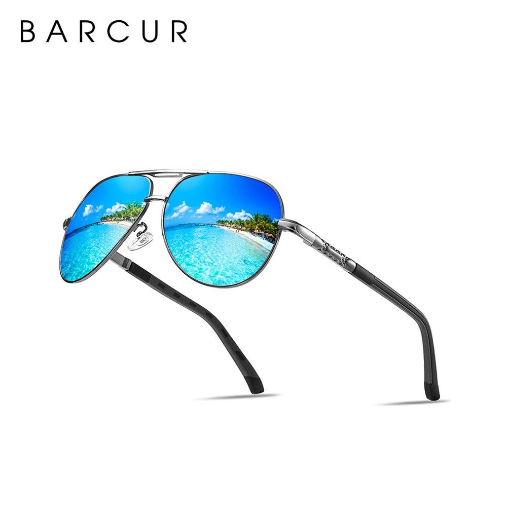 BARCUR брендовые оригинальные мужские солнцезащитные очки, поляризационные солнцезащитные очки, мужские зеркальные очки, мужские очки, аксес...