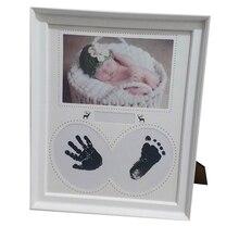 Фоторамка для детей, фоторамка для новорожденных, настенная рамка для фотографий, отпечаток руки, чернильный коврик, рамка для детей, подарок на день рождения, декор для комнаты