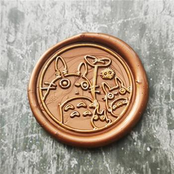 Totoro wosk uszczelniający pieczęć movie pieczęć woskowa wykwintne farby wosk pieczęć DIY pieczęć Retro spersonalizowane pieczęć woskowa tanie i dobre opinie XunMade CN (pochodzenie) seal stamp Pieczątka standardowa Metal Spersonalizowane godło
