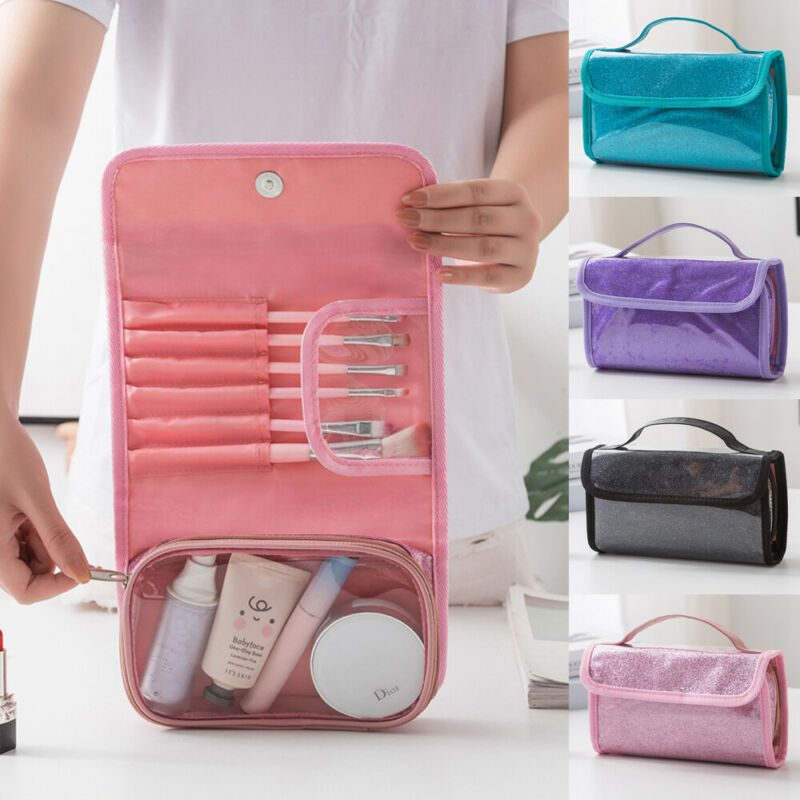 Women Makeup Bag Multifunction Travel Hangable Cosmetic Bag Waterproof Makeup Case Pouch Toiletry Organizer Bag