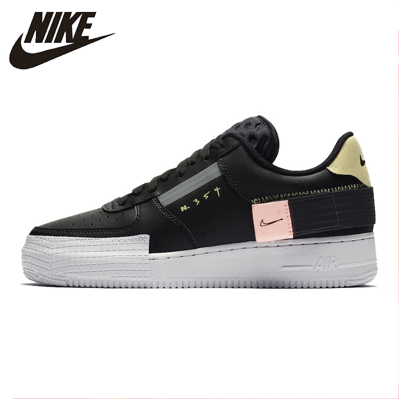 Nike 19 AF1 da Força Aérea Dos Homens de Outono Sapatos de Skate Casuais Não-slip Esportes Confortáveis Tênis Ao Ar Livre # CI0054- 001