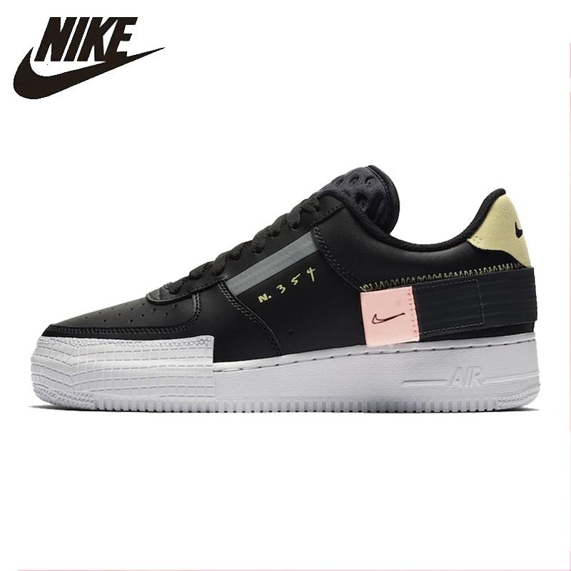 Nike 19 Degli Uomini di Autunno AF1 Air Force Casual Scarpe da pattini e skate Non-slip Sport Confortevole scarpe Da Tennis All'aperto # CI0054-001