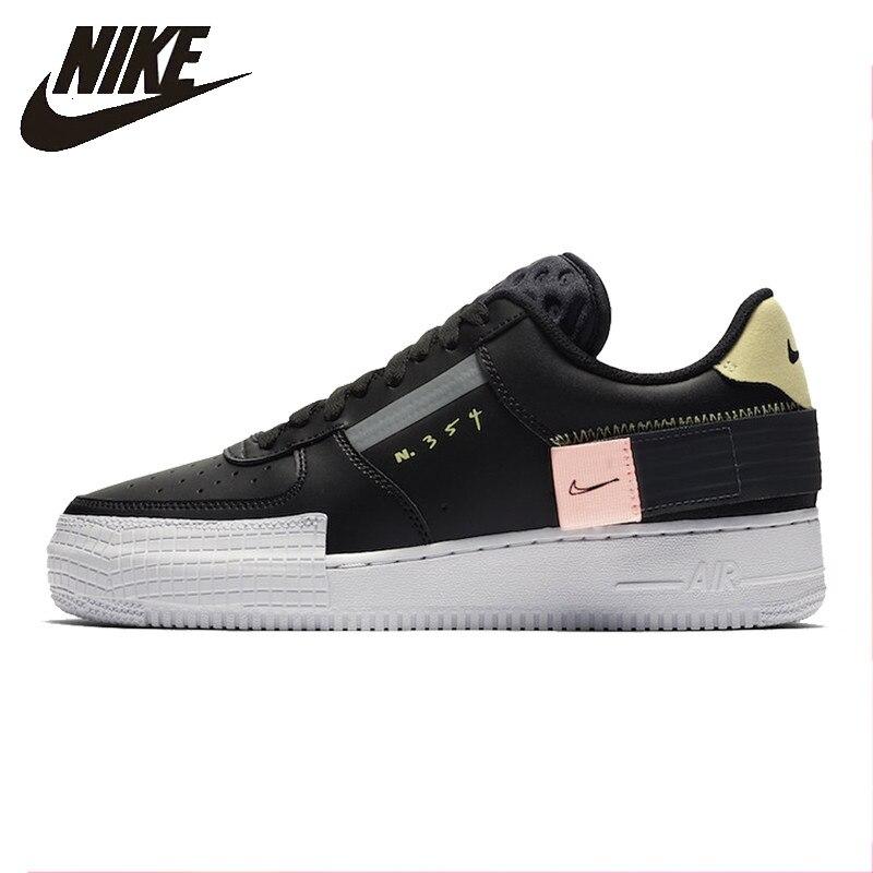 Nike 19 otoño hombres AF1 Air Force Casual Skateboard Shoes antideslizante deportes cómodos zapatillas de deporte al aire libre # CI0054- 001