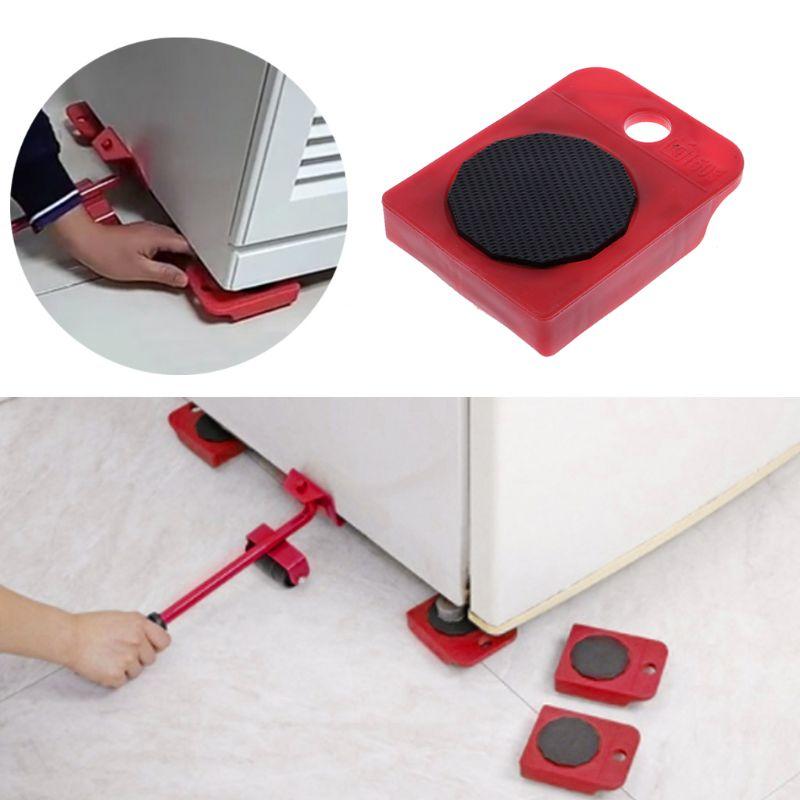 1 шт. перемещает мебельный инструмент транспортный переключатель подвижное колесо слайдер съемник ролик тяжелый