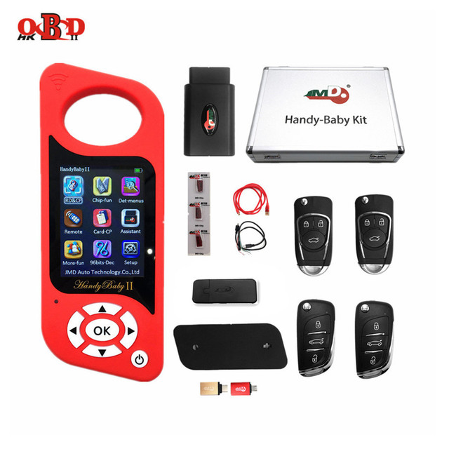 Original JMD Multi language Handy Baby 2 Car Key Chip Copier Handy Baby II Auto Key Programmer free G and 96bit 48 Function