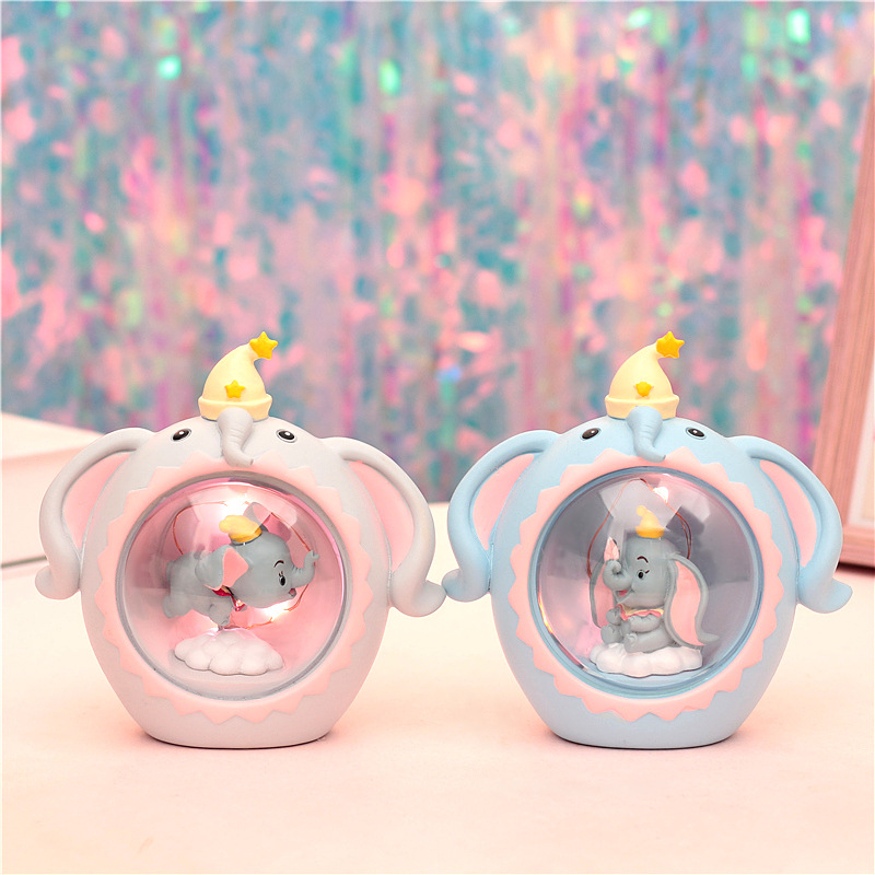 Dumbo Night Light Resin Figures #2351 Home Decoration Toys Brinquedo Collectible Toy Kids Birthday Gift