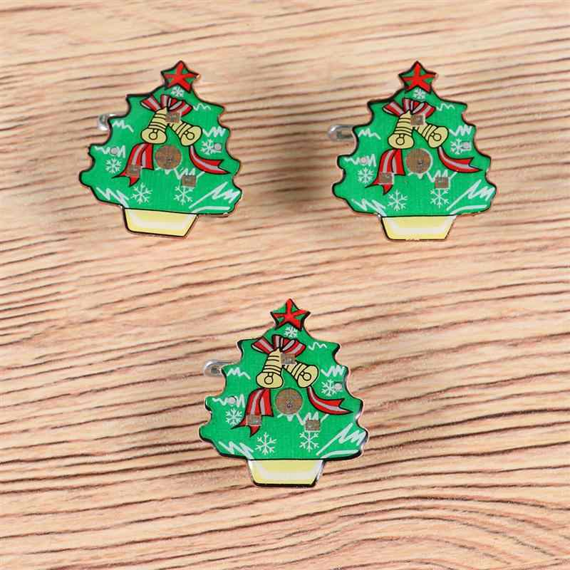25 шт. блестящие эмалированные булавки уникальные очаровательные блестки на Рождество значки светящиеся Подарочные ювелирные броши для рюкзака рубашка одежда