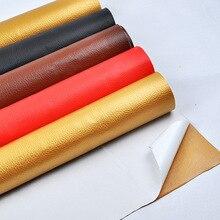 Big Lychee Embossed Self Adhesive Leather Fabric For Sofa Repair 138cm Width