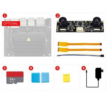 Jetson Nano Development Pack (Type D), with Binocular Camera, TF Card, Optional US/EU/UK Power Plug