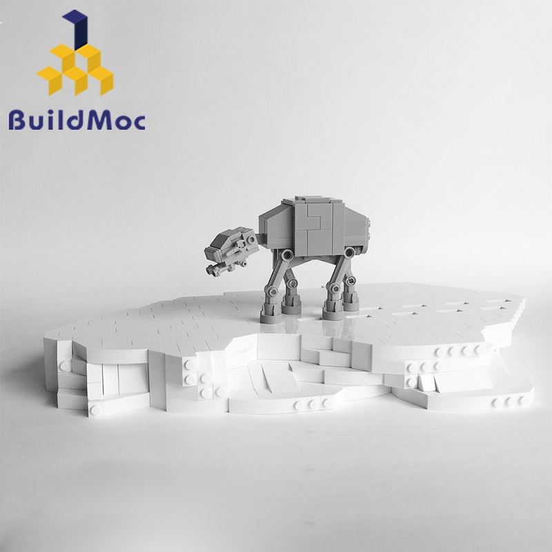 BuildMoc Star Toys Wars Compatible With Blocks 8089 Tiny Motorized Walking AT-AT Set Toys Model Kids Christmas Gifts Building