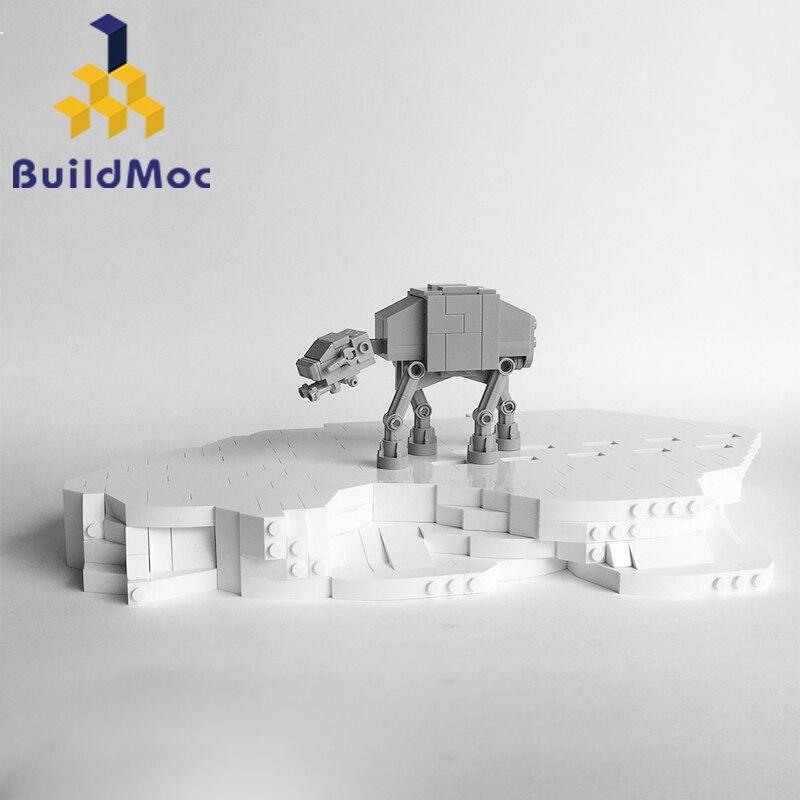 Construcdmoc Star Toys Wars Compatible avec les blocs 8089 minuscule motorisé marche à-AT ensemble jouets modèle enfants cadeaux de noël construction