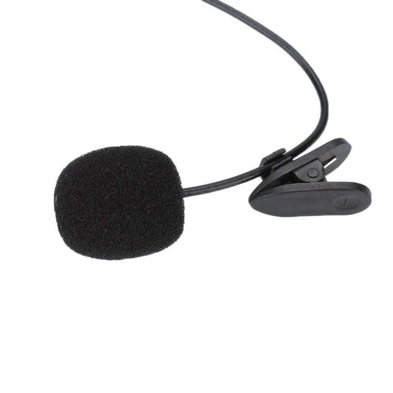 1.5M Clip-on Risvolto Microfono Lavalier 3.5 millimetri Martinetti Esterno per Il IPhone SmartPhone Mic di Registrazione PC per Android nero