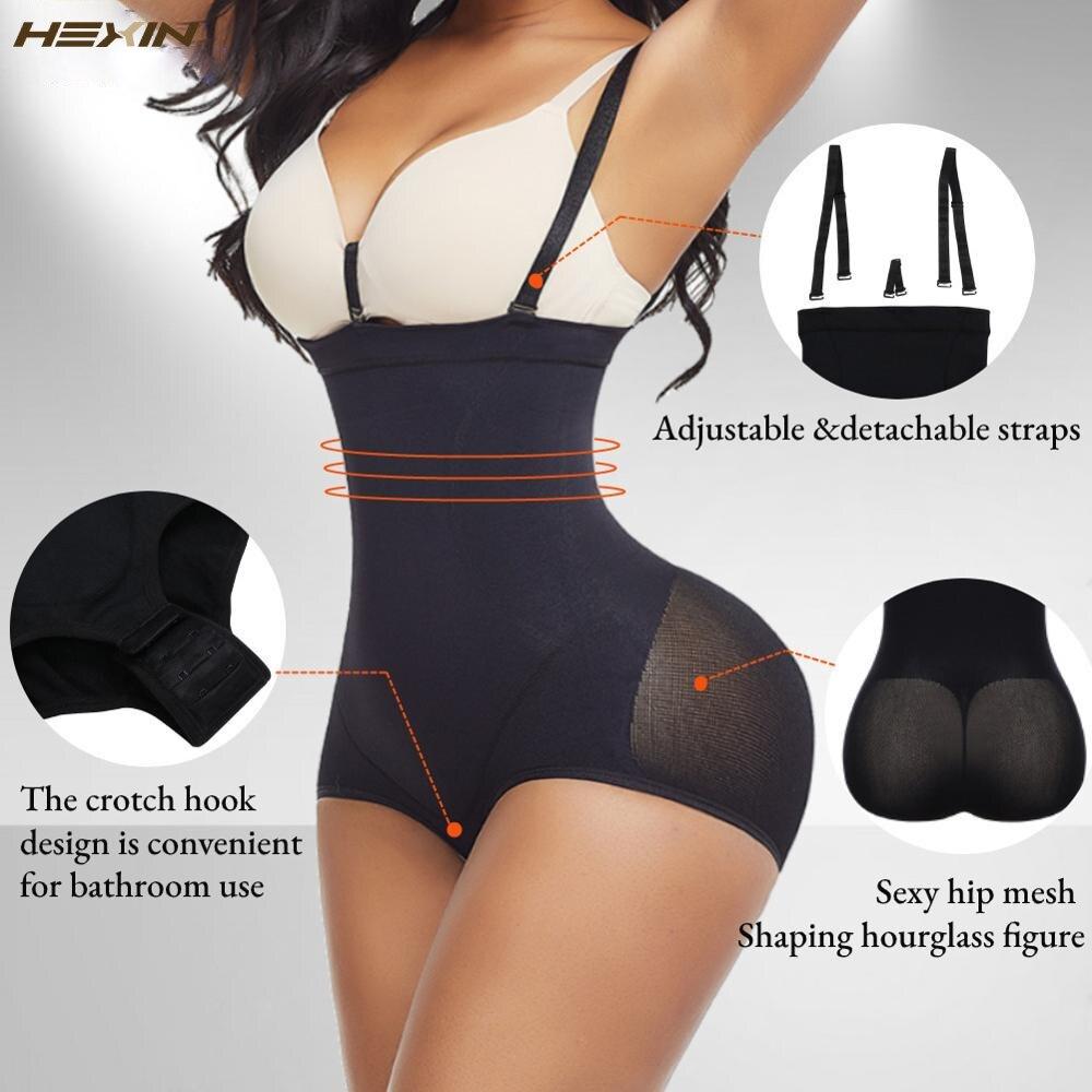 HEXIN Womens Shapewear mutandine per il controllo della pancia intimo dimagrante Body Shaper Butt Lifter cinturino per modellare cinture a vita alta 2