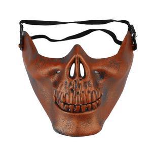 Image 4 - 2020 Year Halloween half face skull mask skull warrior mask CS actual combat mask horror face mask Free Shipping