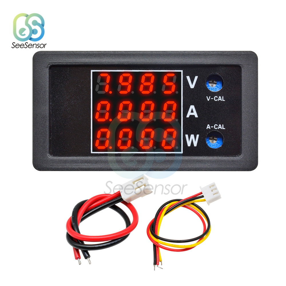DC 0 100V 10A 1000W LCD Display Digital Voltmeter Ammeter Wattmeter High Precision Voltage Current Power Meter Tester Detector in Voltage Meters from Tools