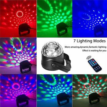 Pilot Led mała magiczna kula USB Mini kolorowe obroty sceniczne światło laserowe KTV Party Crystal Light tanie i dobre opinie CN (pochodzenie) Efekt oświetlenia scenicznego Others Dongguan Small Night Lamp mgy 019
