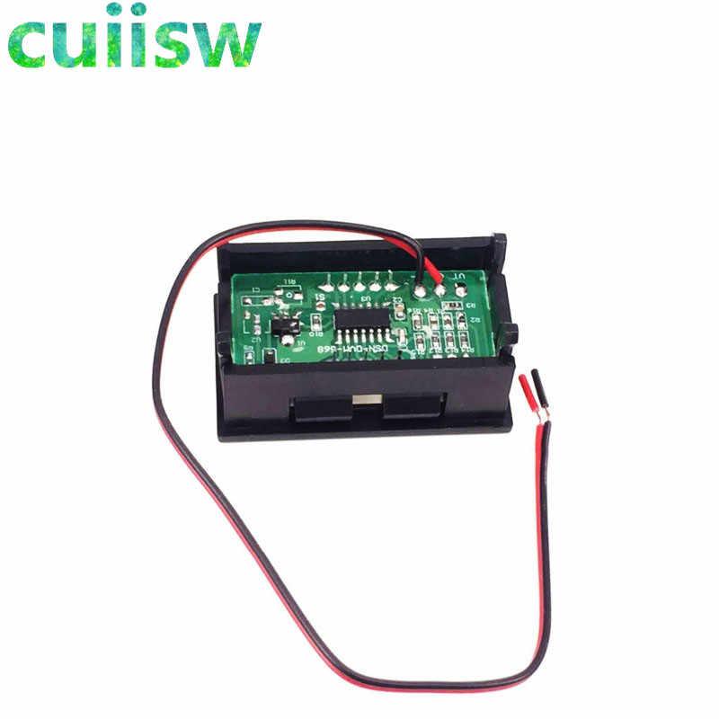 มิเตอร์ดิจิตอล DC 4.5V to 30V Digital Voltmeter เครื่องวัดแรงดันไฟฟ้าสีแดง/สีฟ้า/สีเขียวสำหรับ 6V 12V รถจักรยานยนต์ไฟฟ้ารถ