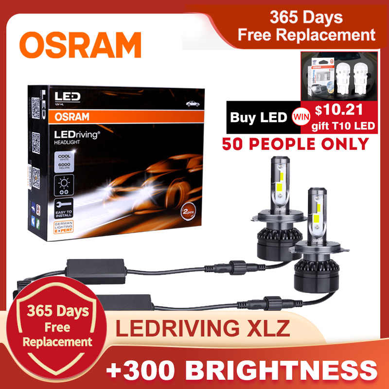 OSRAM LED Headlight LEDriving XLZ 9012 HIR2 HB2 9005 9006 HB4 HB3 H11 Bulb 6000K H1 H7 led H4 auto light lamp car accessories