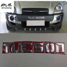 Автомобильные наклейки алюминиевый материал бампер логотип письмо для hyundai Tucson