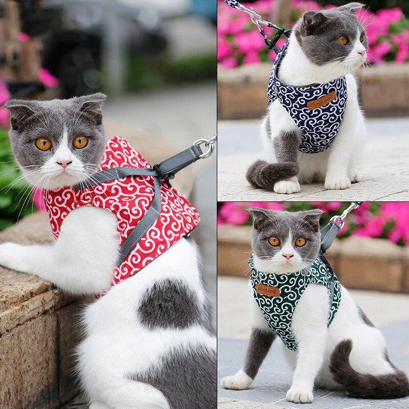 Набор из поводка и ошейника для собак кошек уличная прогулочная