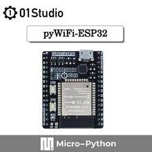 01 estúdio pywifi-esp32 desenvolvimento demo placa embutida compatable com micropython wifi iot pyboard programação wirelss