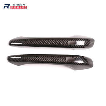 2 pcs Car Door Handle Cover Trim, For Porsche 718 911 Real Carbon Fiber Outer Door Bowl Handle Protective Cover Car Accessory image