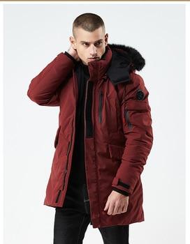 Chaqueta de invierno 2020, Parka larga con capucha y cuello de piel...