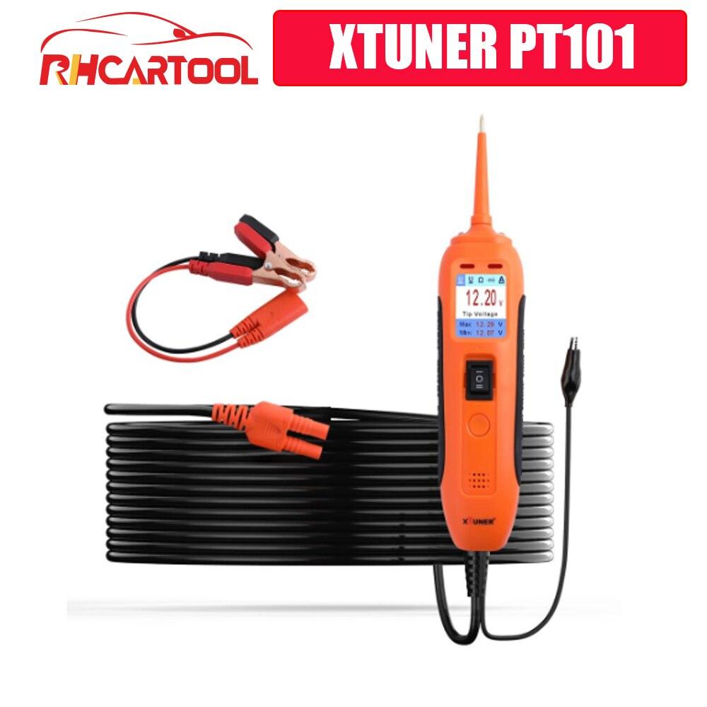 News Vpecker XTUNER PT101 OBD2 Car Battery Tester Circuit Tester DC/AC 12V 24V Circuit Voltage Test OBD2 Scanner Diagnostic Tool