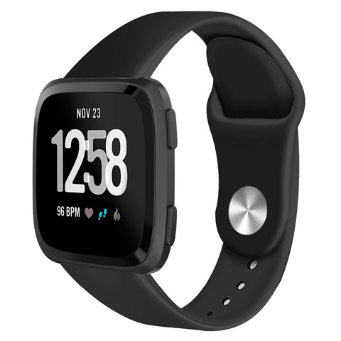 Suitable for F Versa / Versa lite smart watch Solid color reverse buckle silicone TPU strap Islamabad