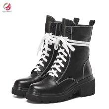 Оригинальное предназначение; Модные женские ботильоны из натуральной кожи; цвет черный, винно-красный; популярная обувь высокого качества с круглым носком; женские Size4-8.5