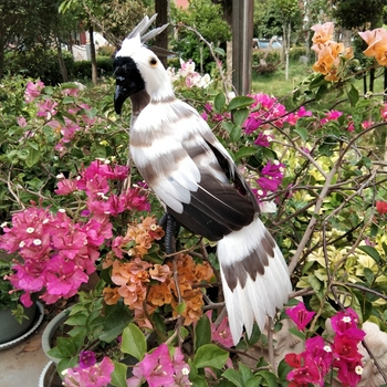 about 30cm white-gray feathers eagle foam&feathers bird model prop.home garden, party decoration Xmas gift w0749