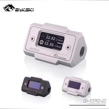 Bykski OLED affichage numérique débitmètre deau système de refroidisseur deau Double G1/4 raccord de capteur de débit