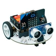 Микробит автомобильный патрульный линия избегания препятствий дистанционного cutebot программируемый робот умный комплект