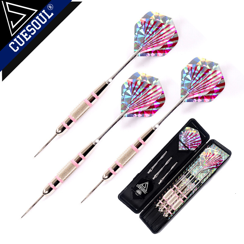 New Dardos 3PCS 24g 16cm Tip Steel Darts Needle Aluminum Dart Shaft  Iron Body With Pink Laser Dart Flights