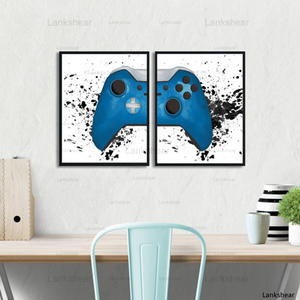 Gaming Boys Wall Art Canvas Painting Pictures Video Game Geek Art Posters and Prints Wall Pictures Gamer Gift Gaming Room Decor