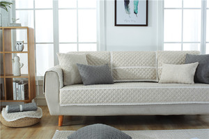 Image 5 - Funda de algodón suave para sofá, toalla para sala de estar, cubierta de banco bajo, funda para sofá cama, fundas de sofá de Navidad