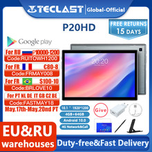 Neueste Teclast P20HD Tablet Android 10 Tabletten PC 4G LTE 10,1 inch 4GB RAM 64GB ROM 1920x1200 SC9863A Octa Core Tabletas GPS
