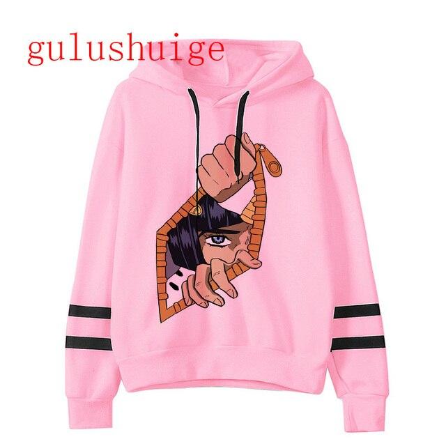 JoJo Bizarre Adventure hoodie Anime men/women funny Sweatshirt new harajuku cartoon hip hop vintage clothes male hooded 4