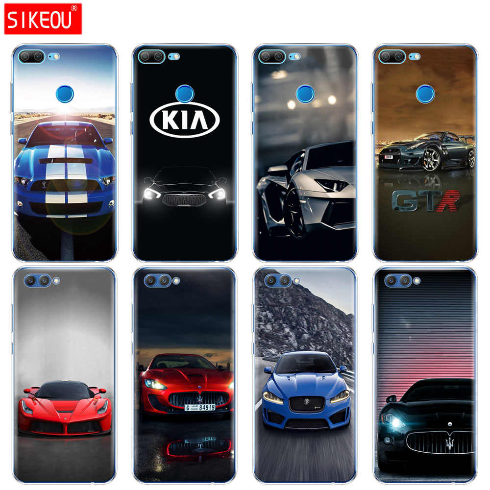 Silicone Cover phone Case for Huawei Honor 10 V10 3c 4C 5c 5x 4A 6A 6C pro 6X 7X 6 7 8 9 LITE sports racing Cars