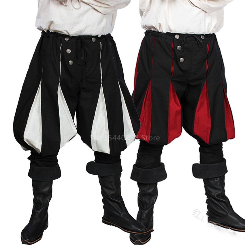 Pirate Pants For Men Viking Cosplay Renaissance Medieval Gothic Pants Pirate Costume Trouser Men Plus Size Loose Fashion Party