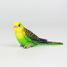 Creative Simulation Parrot Parakeet Miniature Landscape Ornament Animal Model Lawn Figurine Artificial Bird Photography
