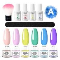 ROSALIND Set di pennelli per immersione in polvere per unghie Dip French Glitter Shinning Nails 12pcs Kit Manicure