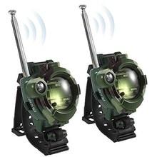 Часы для переносного приемо-передатчика Qihe в стиле милитари с камуфляжным принтом для переносного приемо-передатчика Игрушка Дети иди и болтай Walkie talkie s
