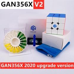 GAN356X V2 3x3x3 Magnetischen zauberwürfel gans 3x3x3 cube GAN356 X v2 magnetische 3x3 geschwindigkeit cube GAN 356X 3x3 cubo magico GAN356 puzzle