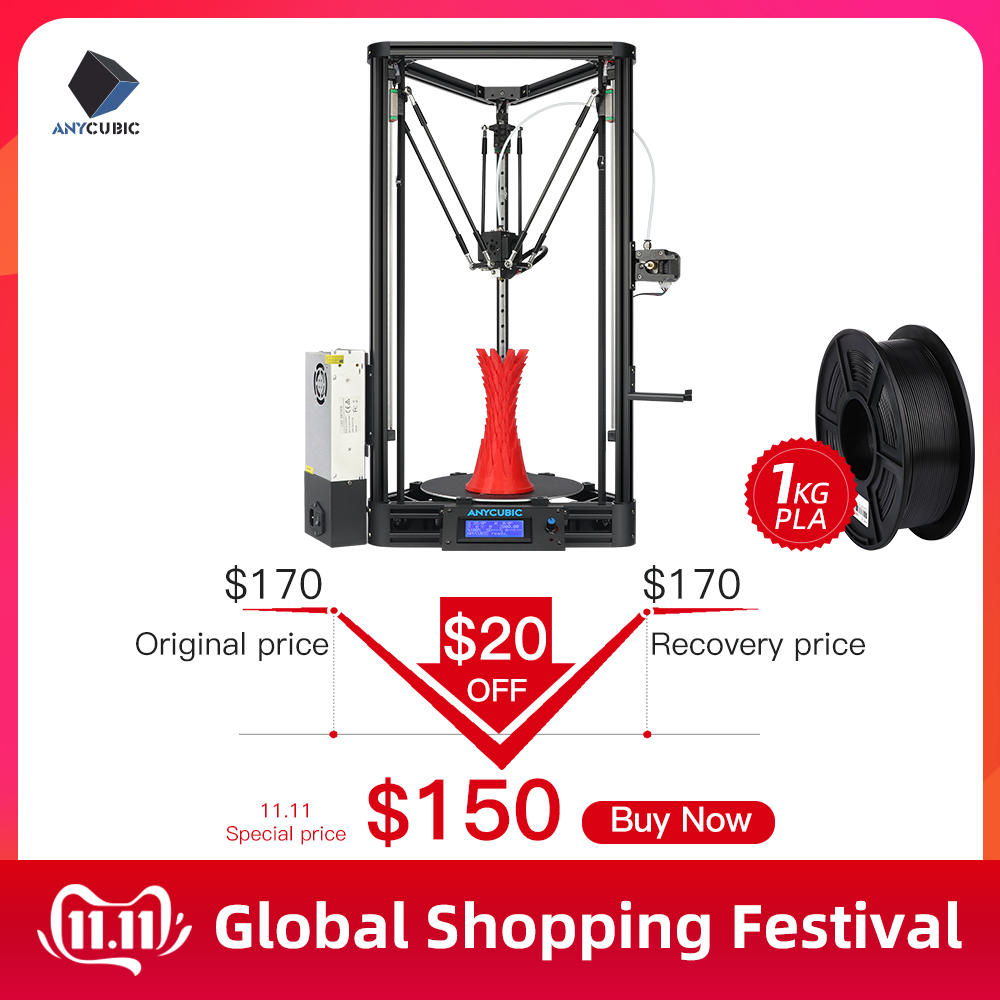 ANYCUBIC Kossel 3d Printer impressora 3D Auto Leveling Module Linear Guide Automatic Leveling Platform 3D Printer Stampante 3D-in 3D Printers from Computer & Office