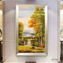Современный пейзаж картина маслом на холсте Печать декоративное