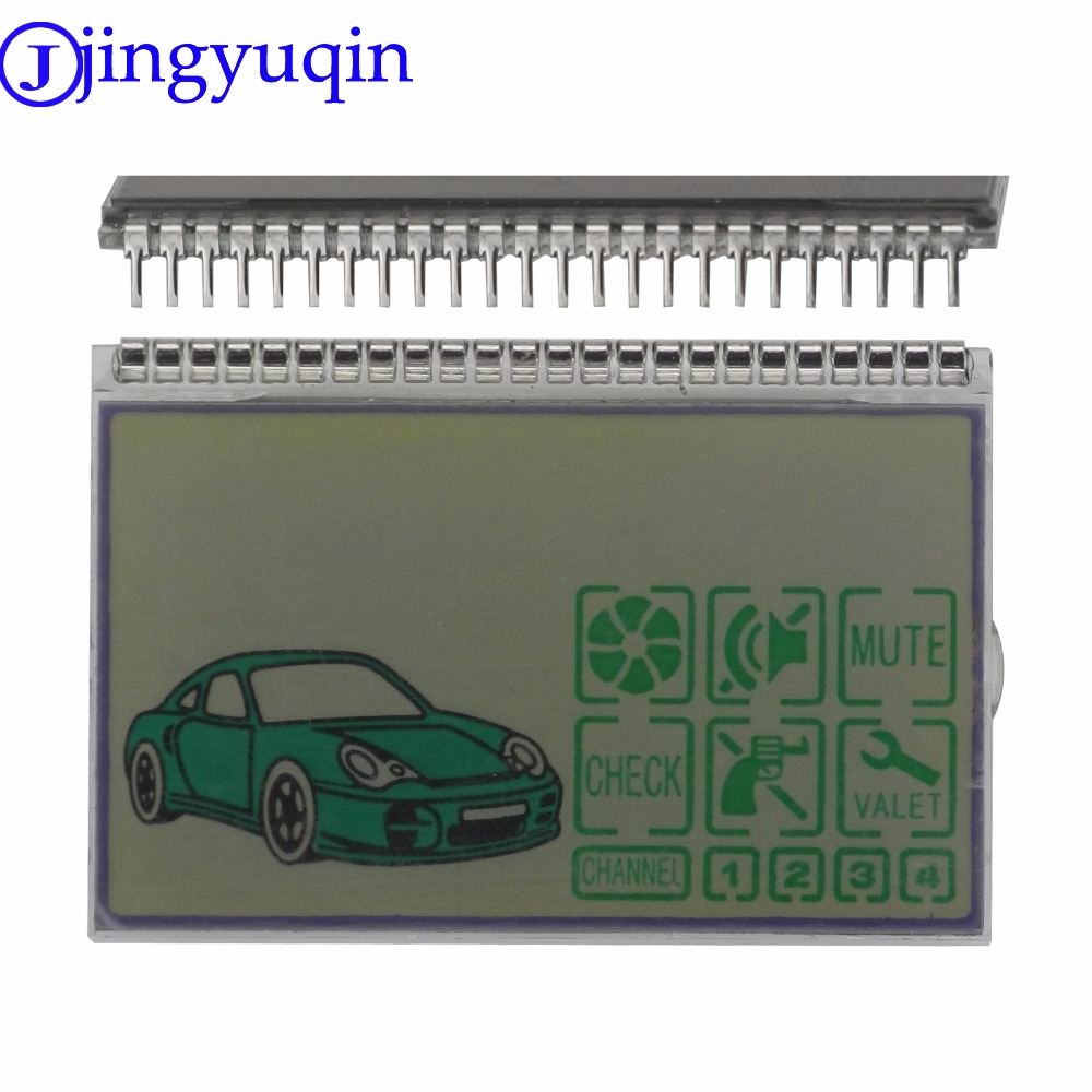 Jingyuqin Lcd-Display Car-Alarm-System Remote-Controller Tamarack Pandora Dxl3000 Russia-Version title=