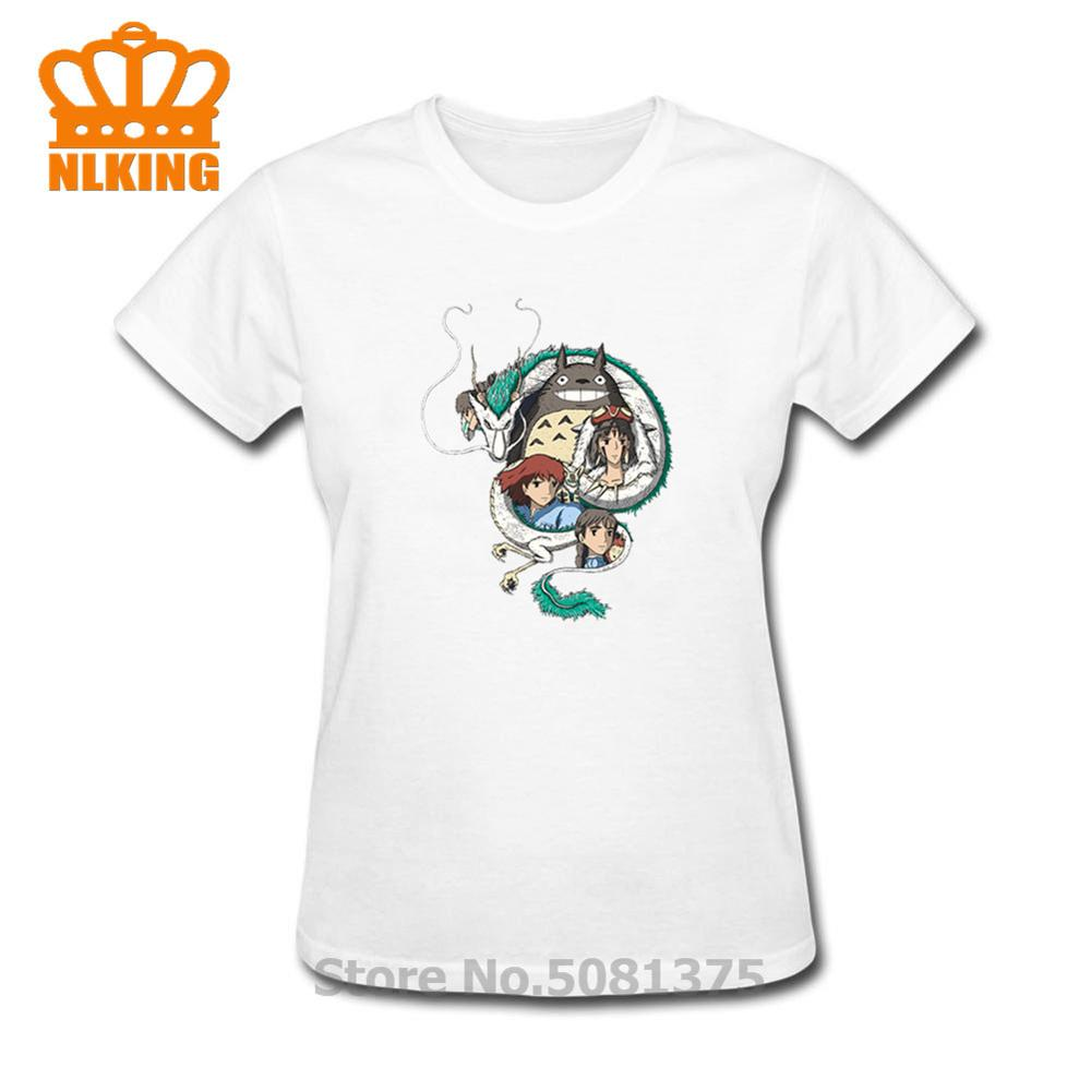 2020 mode t-shirt à fleurs femmes mon voisin Totoro été chemise hauts princesse Mononoke T-Shirts femmes vêtements femme t-shirt